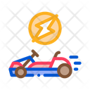 Electric Kart Color Icon