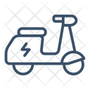 Electric motorcycle Icon