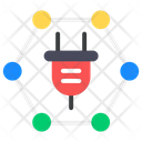 Electric Network Electricity Production Network Power Connection Icon