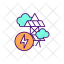 Electricity Production Greenhouse Icon