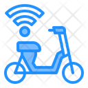 Electric Scooter Sharing Wifi Icon