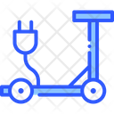 Scooter Electric Modern Icon
