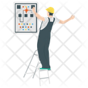 Electric Shock Electrical Hazards Serviceman Threat Icon