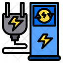 Electric Station Energy Plant Power Generator Icon