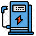 Electric Station Charging Station Vehicle Icon