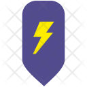 Electric Shock Map Icon