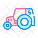 Electric Tractor Color Icon
