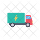 Electricity Truck Transport Icon