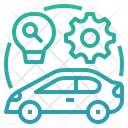 Electric Vehicle Research And Development Ev Electric Car Icon
