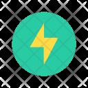 Electrical Bolt Thunder Icon