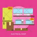 Electrical Shop Building Icon