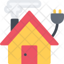 Electrical Connection House Icon