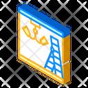 Installation Chandelier Isometric Icon