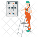 Electric Labor Handyman Electrician Icon