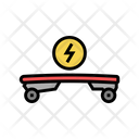Electrical Skateboard Color Icon