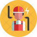 Electrician Worker Avatar Icon