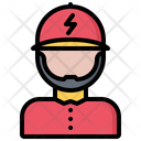 Man Electrician Electricity Icon