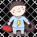 Electrician Serviceman Mechanic Icon