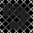 Electrician Worker Technician Icon
