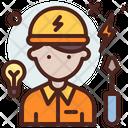 Electrician Profession Professional Icon