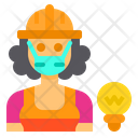 Electrician Job Occupation Icon