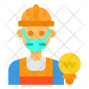 Electrician Avatar Mask Icon