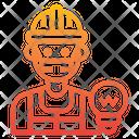 Electrician Job Man Icon