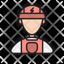 Man Worker Engineer Icon