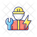 Electrician Electric Worker Icon