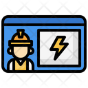Electrician License Electrical Id Id Card Icon