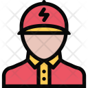 Electrician Plumber Cleaning Icon