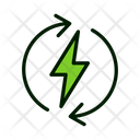 Electricity Recycle Electricity Electric Charge Icon