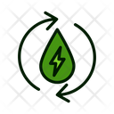 Electricity Energy Transformation Recycle Electricity Icon