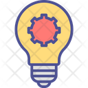 Electricity Flash Incandescent Lamp Icon