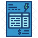 Electricity bill Icon