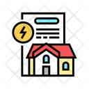 House Electricity Contract Icon
