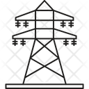 Electricity Tower Power Line Tower Supporting Tower For Electrical Wires Icon