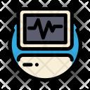 Medical Electrocardiogram Cardiogram Icon