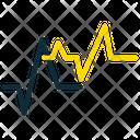 Electrocardiogram Ecg Heartbeat Icon