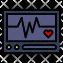 Heart Cardiogram Medical Icon