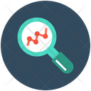 Electrocardiogram Magnifying Glass Cardiology Icon