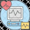Heartbeat Monitor Heartbeat Machine Electrocardiogram Icon