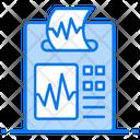 Electrocardiogram Ekg Heartbeat Checking Machine Icon