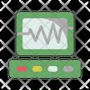 Electrocardiogram Pulse Hospital Icon