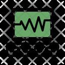 Electrocardiogram Pulse Health Check Icon