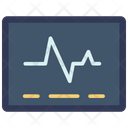 Electrocardiogram on screen Icon
