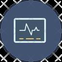 Electrocardiogram On Screen Icon