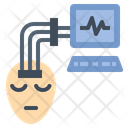Eeg Sensor Brain Neuro Interpretation Icon
