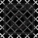 Electronic Washing Machine Online Icon