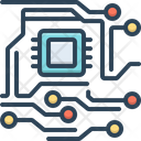 Electronic Circuit Digital Icon